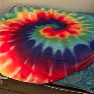 Tye dye beach towel (round)